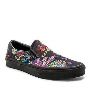 Van's satin floral slip-on sneakers multicolor